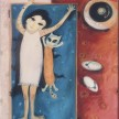 Bobok Bareng Kucing 2003 60x50cm Oil On Canvas  Sold