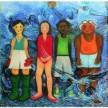 Anak Emas, 100 x 300 cm, Oil on Canvas, 2007