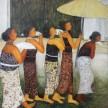 Hantaran Untuk Raja, 135 x 170cm, Oil on Canvas, 2014