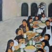Jamuan Tanpa Nasi, 130 x 170cm, Oil on Canvas, 2014